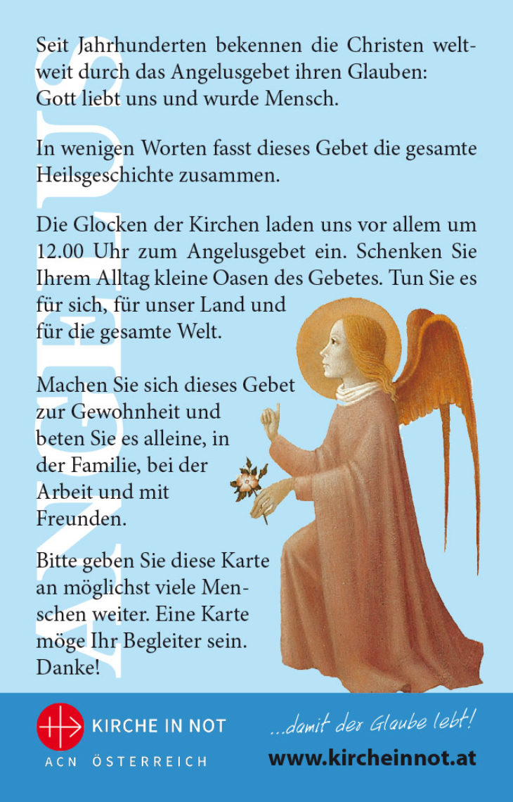 Angelus-Gebet <br> im Kreditkartenformat
