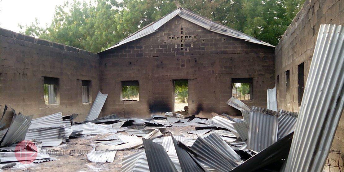 Eine von Boko Haram zerstörte Kirche in Nigeria.