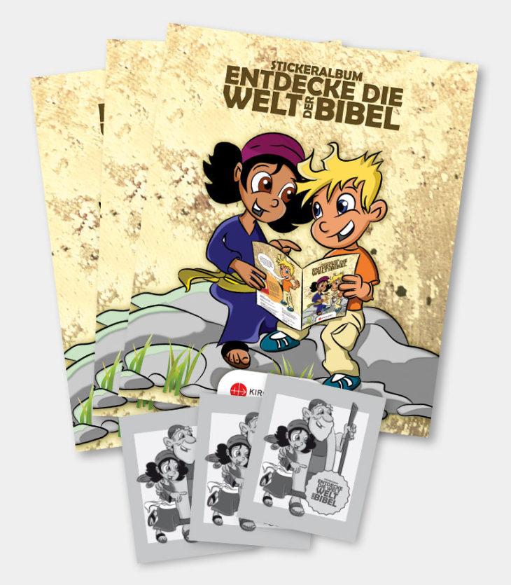 Bibelstickeralbum - <br>Gruppenpaket 1 (10+100)