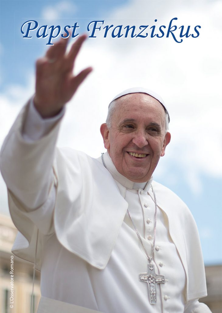 Gebetskarte Papst Franziskus