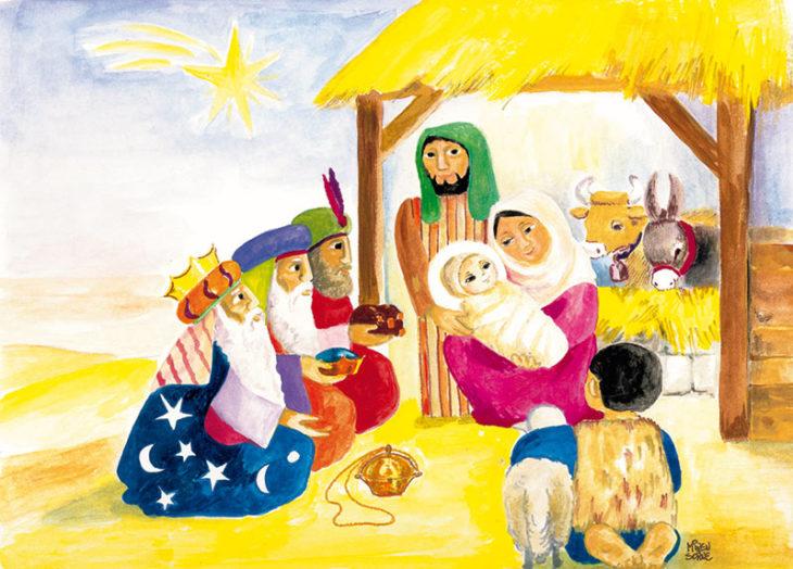 6 Postkarten -<br> mit Weihnachtsmotiven