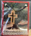 Kreuz - Anhänger <br>aus Olivenholz
