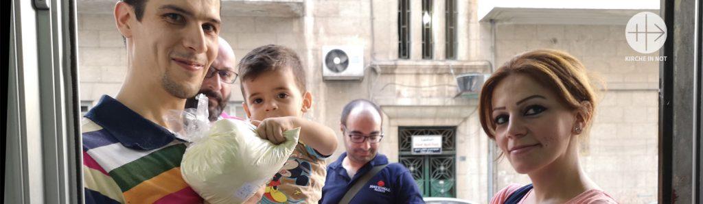 Syrien: KIRCHE IN NOT gibt Nothilfe für 20 000 Familien