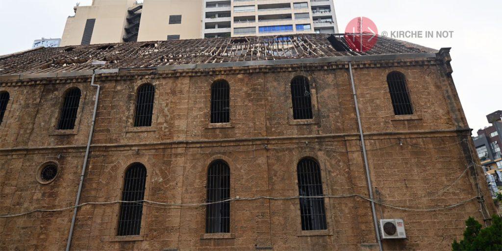 Schäden an einer Kirche in Beirut.