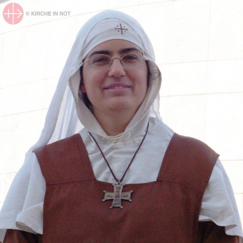 Portrait of Sister Myri (Sister Maria Lúcia Ferreira), a sister from the Mar Yakub Monastery in Qara, in the Christian region of Qalamoun, Portuguese-born.