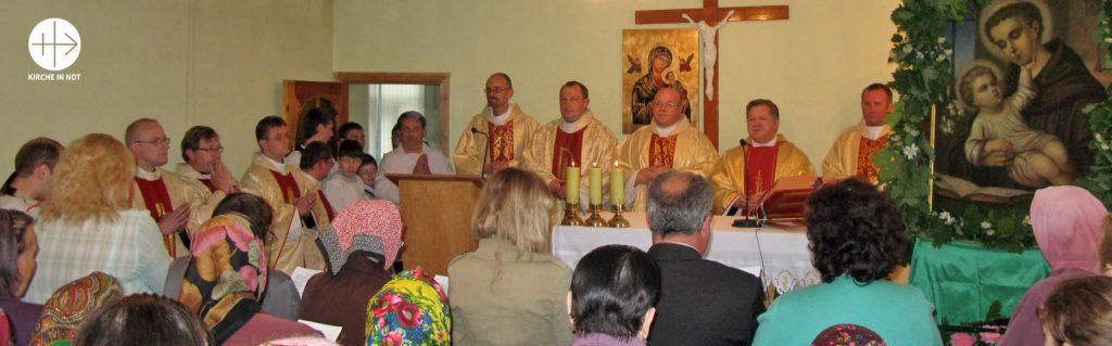 Belarus: Bauhilfe für die kath. Pfarrkirche und das Pfarrzentrum St. Antonius