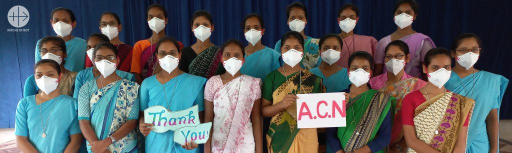 DANKE: Indien: Schutzmaterial für Ordensschwestern in Westbengalen